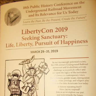 """WOOC attends the Underground Railroad History Project """"LibertyCon 2019 Conference"""" Seeking Sanctuary: Life, Liberty, Pursuit of Happiness at Sienna College on March 29-31st."""