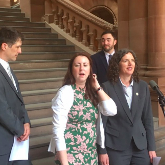 Sen. Metzger and As. Rozic have introduced a bill to halt new fossil fuel projects in NYS and to set a goal of 100% renewable electricity by 2030 if possible.